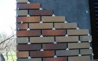 Монтаж клинкерной плитки – существующие методы