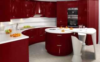 Дизайн кухни вишневого цвета – особенности, сочетания, элементы декора, мебель