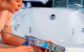 Как закрыть щели между ванной и стеной