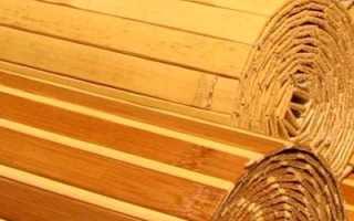 Бамбук в интерьере кухни – обои, мебель, паркет и шторы