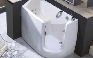 Распространенные размеры сидячих ванн