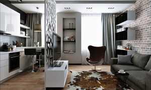 Дизайн квартиры-студии – оформление малогабаритных помещений и новостроя
