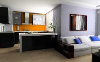 Как отделить кухню от гостиной: варианты – визуальные, частичные, полные