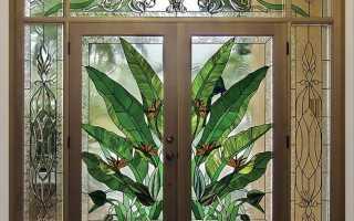 Двери межкомнатные витражные – роскошь, доступная каждому