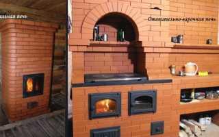 Как построить печь из кирпича
