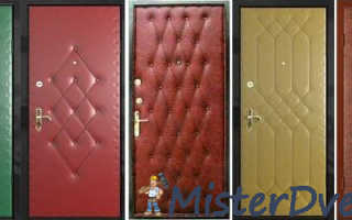 Обивка металлических дверей: разные материалы и способы
