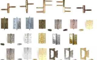 Размеры дверных петель, допустимые отклонения, разметка и некоторые требования