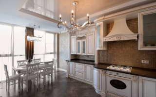 Двухуровневый потолок на кухне – современное исполнение и особенности