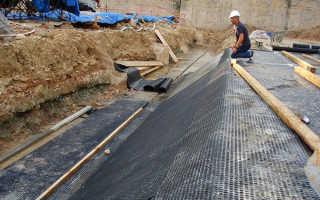 Пластовый дренаж под фундаментной плитой – виды, конструкция, требования
