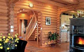 Стильные деревянные дома из бруса – нюансы оформления внутреннего пространства