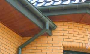 Из чего сделать слив с крыши