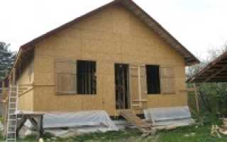 Недорогой щитовой дачный дом – конструкция, преимущества и недостатки