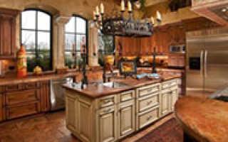 Кухня в тосканском стиле – оформление, основные элементы и декор