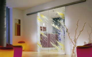 Стеклянные двери с рисунком – варианты, возможности, методики