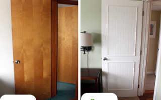 Как обновить деревянную дверь своими силами