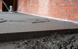 Устройство цементно песчаных стяжек