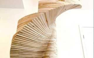 Как сделать деревянную винтовую лестницу в частном доме