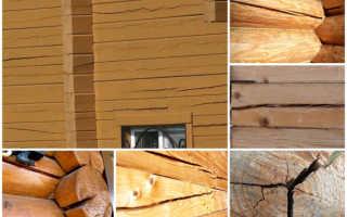 Трещины в стене деревянного дома – причины появления и способы ликвидации