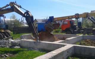 Демонтаж фундамента – ручные и механизированные способы