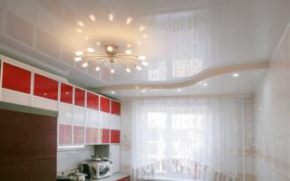 Уход за натяжными потолками на кухне – особенности мытья пленки и ткани