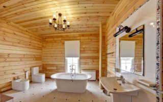 Вагонка для ванной комнаты – почему бы и нет